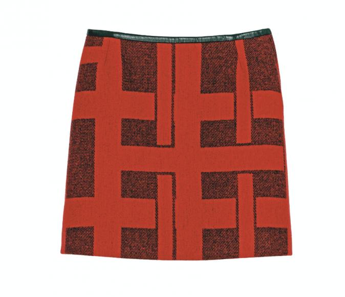 En laine et cuir, Claudie Pierlot aux Galeries Lafayette 155 €