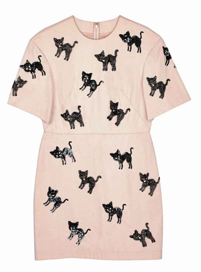 Robe à motifs chats avec sequins, Asos 43,99 €