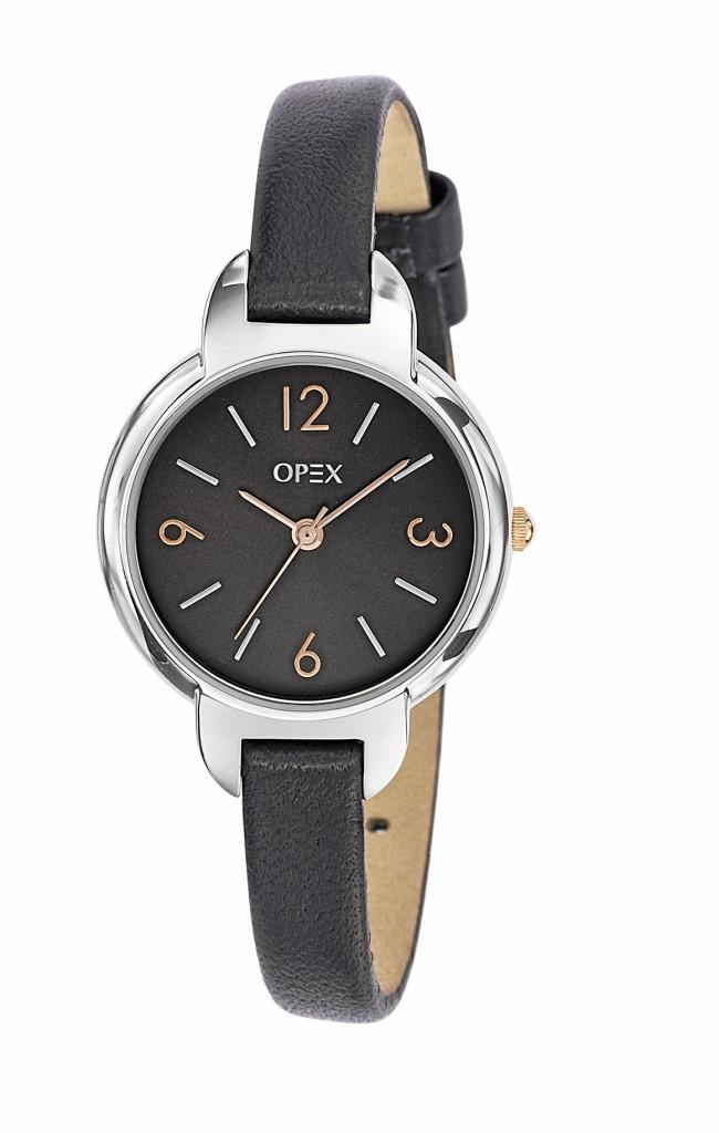 Montre bracelet en cuir, Opex 75 €
