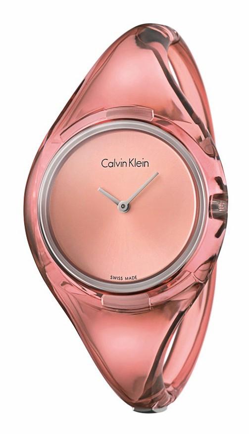 Bracelet en plexi transparent, Calvin Klein, 160€