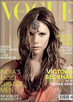 Victoria Beckham pour l'édition Indienne de Vogue !