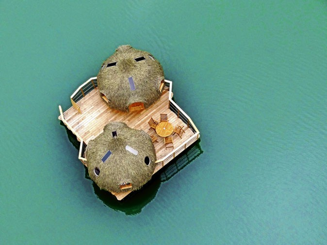 La cabane en l'air au Domaine des Grands Lacs