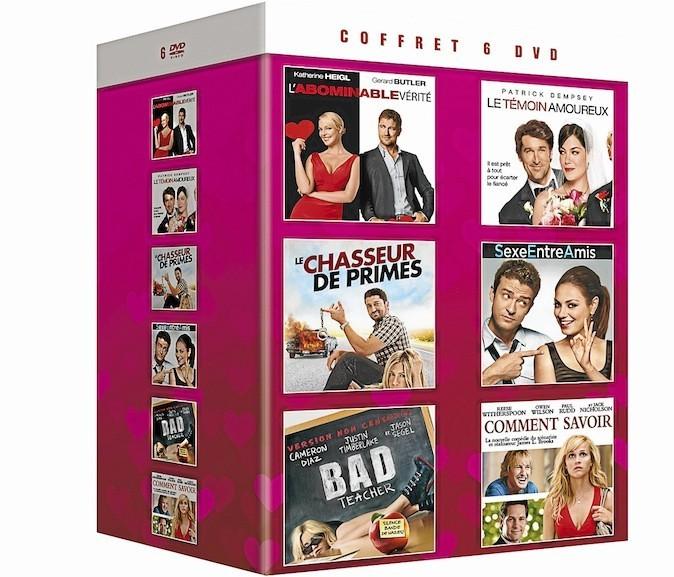 Coffret 6 DVD comédies romantiques, SPHE 29 €