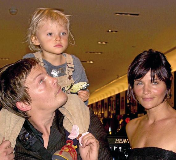 Norman Reedus avec Helena Christensen et leur fils, Mingus