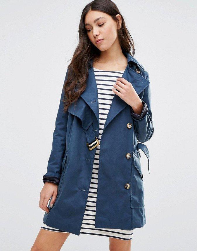 Cooper & Stollbrand - Trench-coat asymétrique - Bleu marine - 395€
