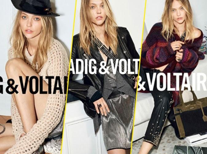 Photos : Rock and chic, Zadig & Voltaire nous présente sa nouvelle collection avec la belle russe Sasha Pivovarova !