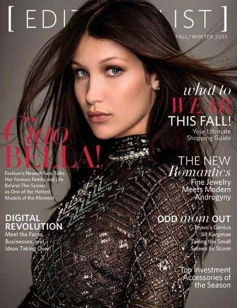 Bella Hadid en couverture de Editorialist Magazine