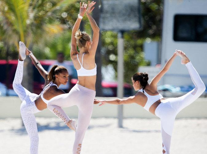 Adriana Lima, Jasmine Tookes, Sara Sampaio : Shooting photo ultra sporty sur la plage de Miami !