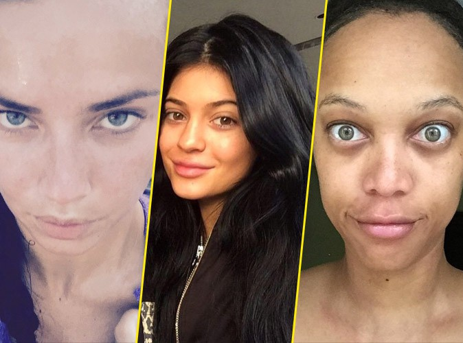 "Photos: Adriana Lima, Kylie Jenner, Tyra Banks... Quand les stars se la jouent ""No make-up"" !"