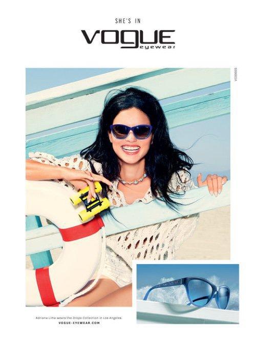 Photos : Adriana Lima : rayonnante et lumineuse pour Vogue Eyewear