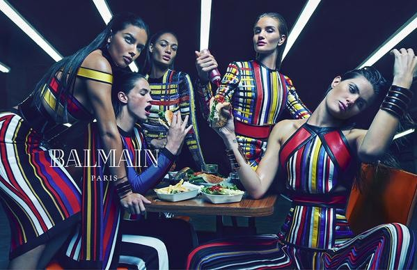 Photos : Adriana Lima, Rosie Huntington-Whiteley, Joan Smalls... découvrez l'étonnante campagne Balmain !