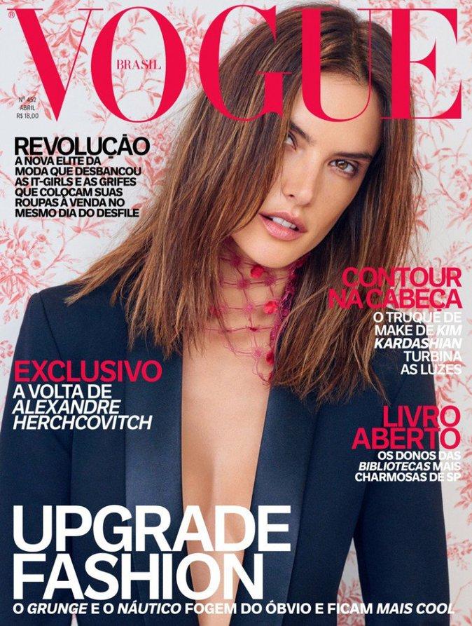 Photos : Alessandra Ambrosio : chic et sexy en couverture de Vogue Brésil