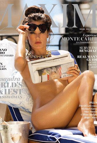 """Photos : Alessandra Ambrosio : nue et """"femme d'affaires la plus sexy au monde"""" pour Maxim !"""