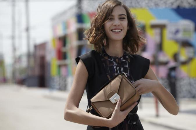 Alexa Chung, visage de la campagne Automne - Hiver 2015 de Longchamp