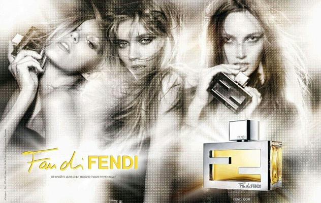 """Anja Rubik, Abbey Lee Kershaw et Karmen Pedaru pour le dernier parfum Fendi, """"Fan di Fendi"""""""