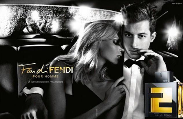 """Anja Rubik et Mark Ronson pour le dernier parfum Fendi, """"Fan di Fendi"""""""