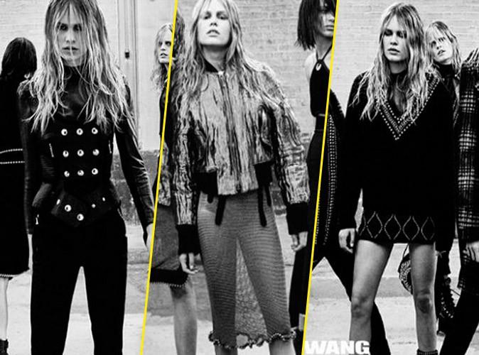 Photos : Anna Ewers, le sosie de Brigitte Bardot se transforme en beauté gothique pour Alexander Wang !
