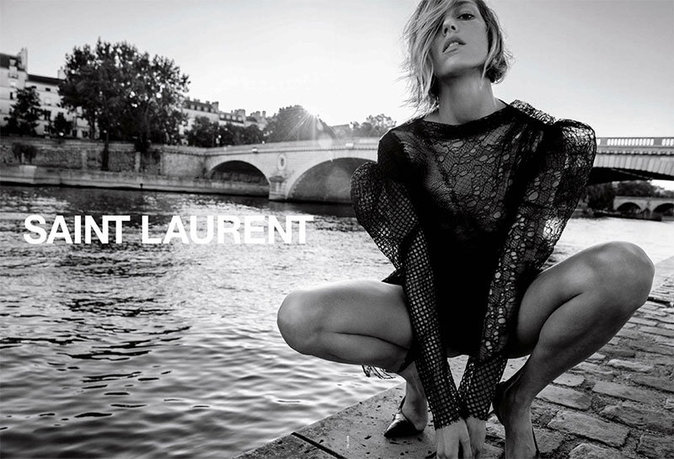 Anja Rubik pour Saint Laurent