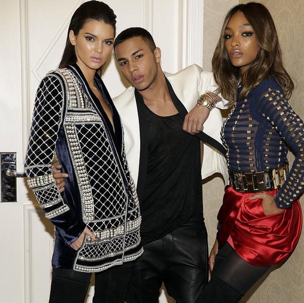 Jourdan Dunn, Olivier Rousteing et Kendall Jenner lors des Billboard Music Awards 2015 à Las Vegas