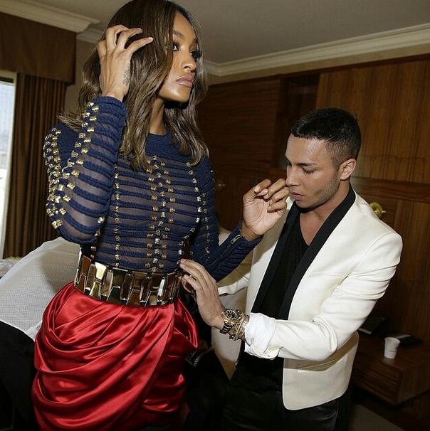 Olivier Rousteing retouche la robe Balmain X H&M de Jourdan Dunn