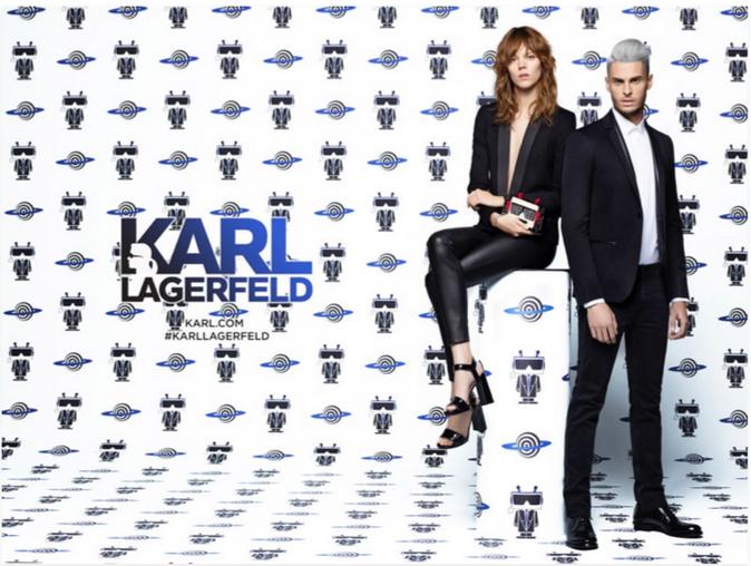 Freja Beha et Baptiste Giabiconi pour la nouvelle collection printemps-été 2016 Karl Lagerfeld