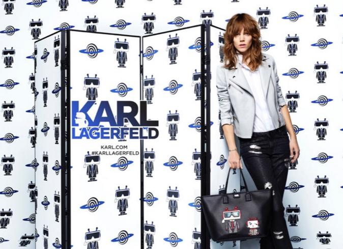 Freja Beha pour la nouvelle collection printemps-été 2016 Karl Lagerfeld