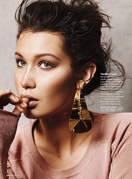 Bella Hadid, une Golden Woman sensuelle pour Glamour Magazine