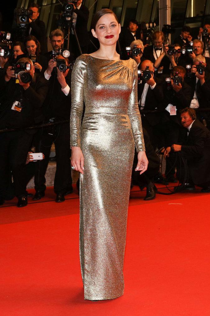 Marion Cotillard sur le tapis rouge du 69e Festival de Cannes