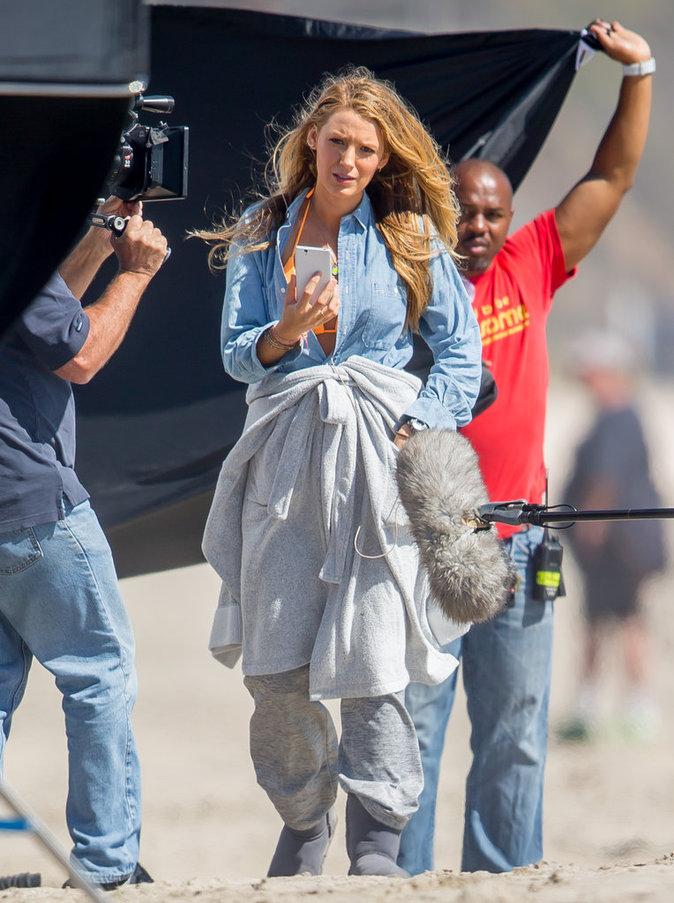 Blake Lively en tournage