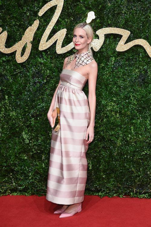 Poppy Delevingne aux British Fashion Awards, à Londres le 23 novembre 2015