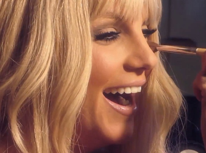 Britney Spears lors du making-of de Fantasy Twist