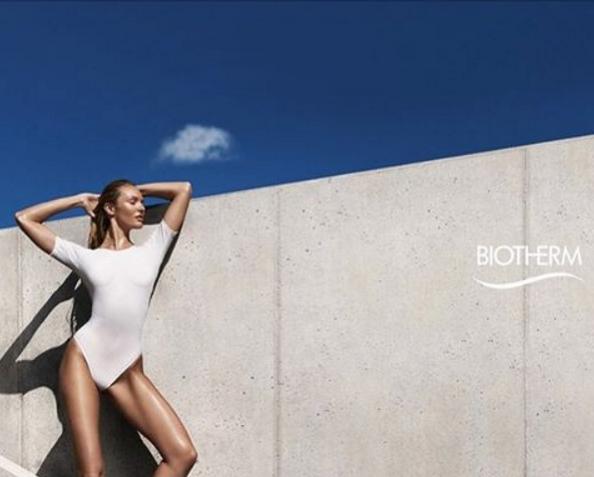 Photos : Candice Swanepoel : aérienne et naturelle pour Biotherm