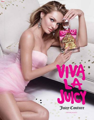 Photos : Candice Swanepoel, égérie fraîche et girly pour le nouveau parfum Juicy Couture !