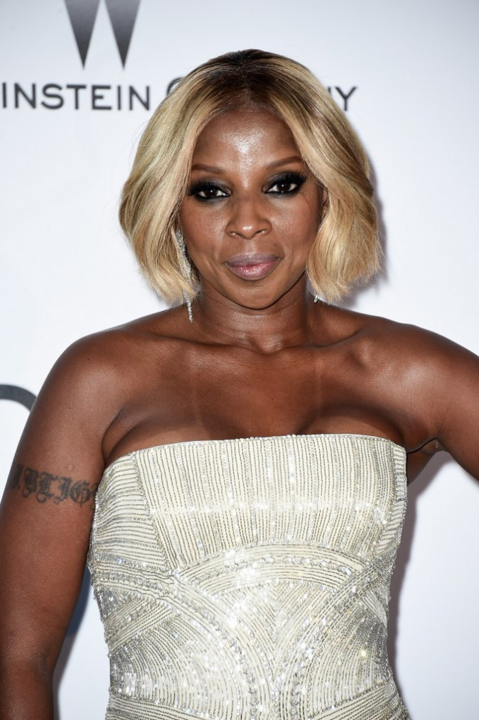 Mary J. Blige opte pour le smoky eyes !