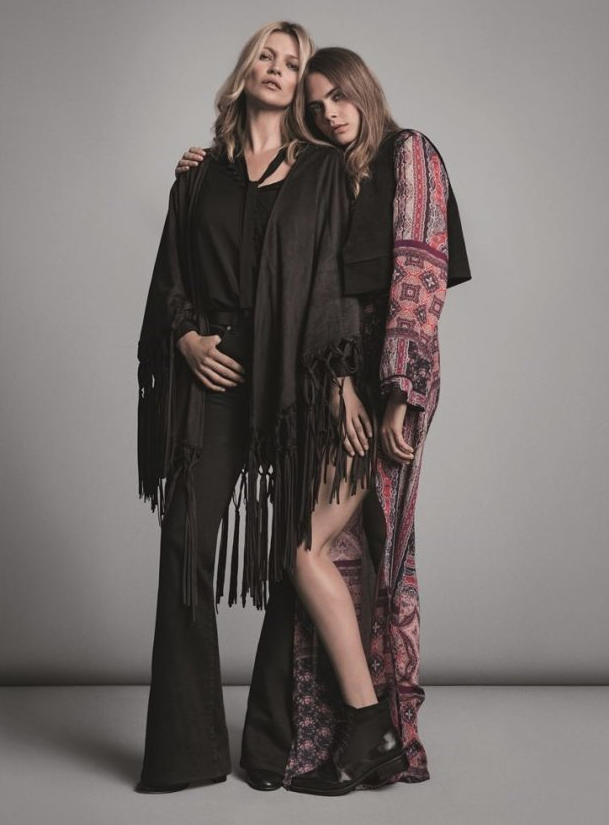 Cara Delevingne et Kate Moss pour la nouvelle collection automne 2015