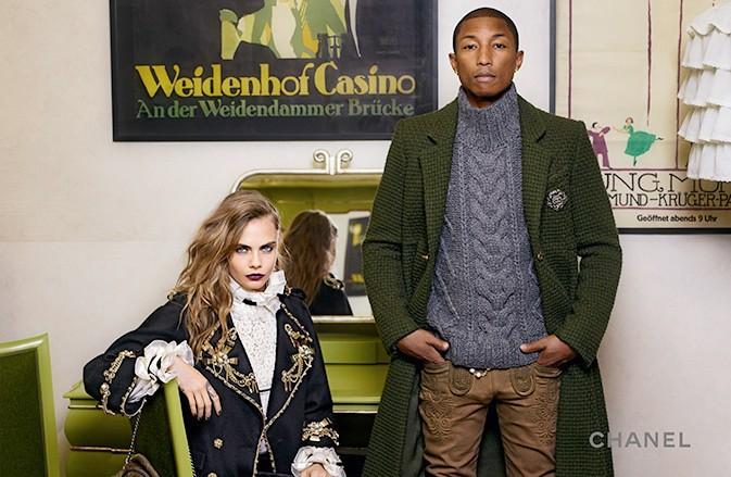 Cara Delevingne et Pharell Williams, à nouveau réunis pour Chanel !
