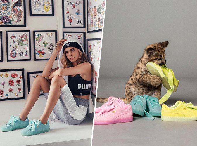puma basket heart cara