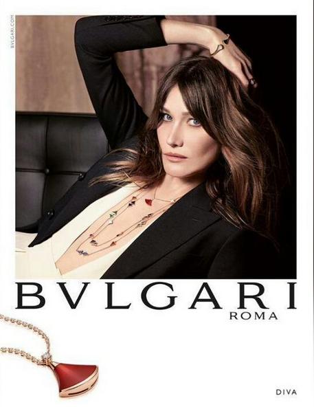 Carla Bruni pour Bulgari