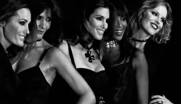 Cinq tops models dans le clip Duran Duran !