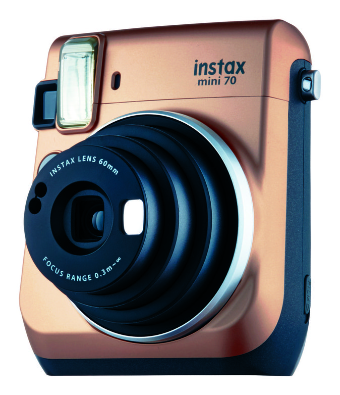 Instax mini 70 gold, Fujifilm. 129,90 €.