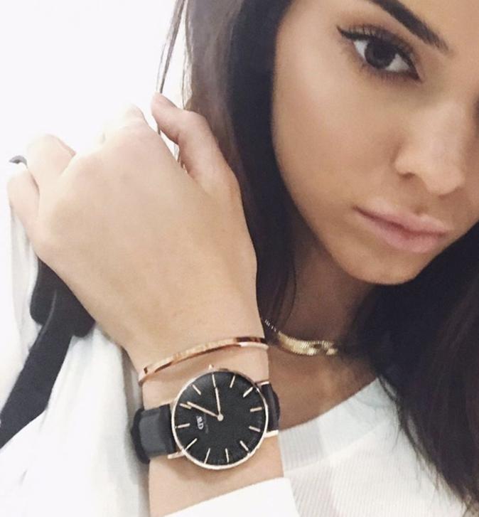 Kendall Jenner : Nouvelle égérie de la marque de montres Daniel Wellington