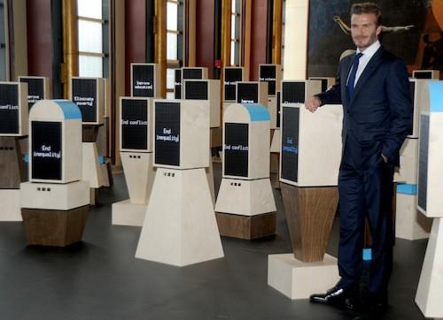 Photos : David Beckham, beau gosse au bon cœur pour l'Onu !