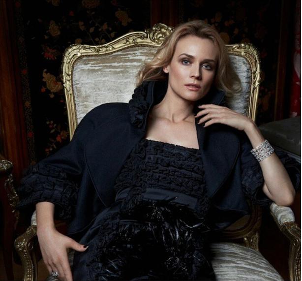 Diane Kruger pour le Harper's Bazaar Russie, habillée en Chanel