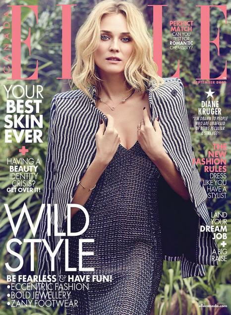 Photos : Diane Kruger : wild et sensuelle pour Elle Canada !