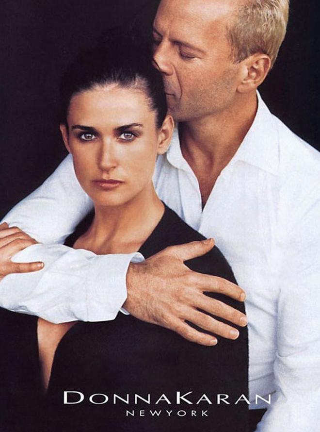 Demi Moore et et Bruce Willis dans la campagne Donna Karan automne/hiver 1996 shootée par Peter Lindbergh