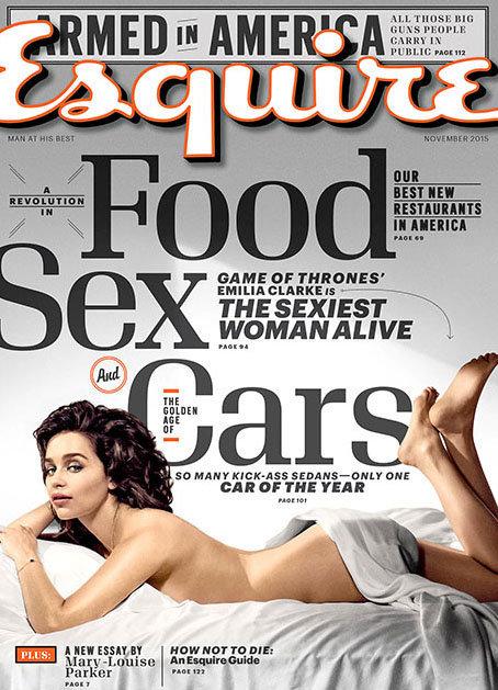 """Élue """"Femme la plus sexy du monde"""", Emilia Clarke se dénude pour Esquire !"""
