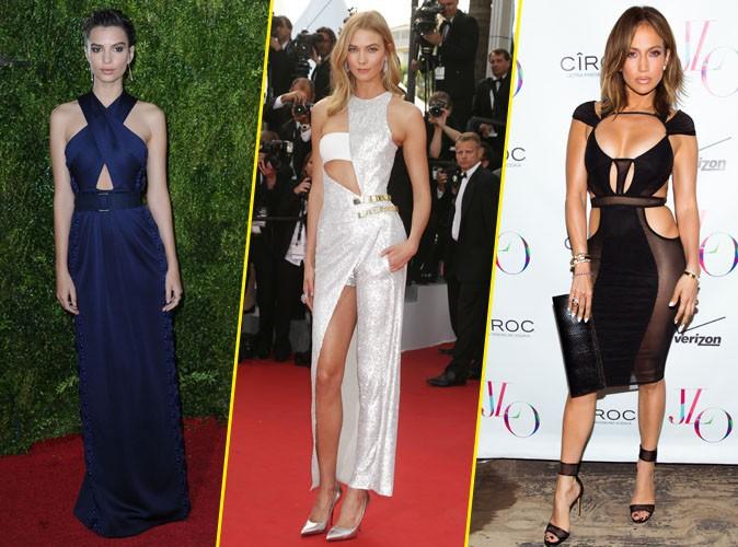 Photos : Emily, Karlie, Jlo... Focus sur une nouvelle tendance, la robe découpée !
