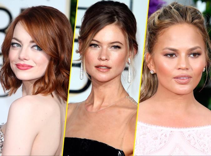 Photos : Emma Stone, Behati Prinsloo, Chrissy Teigen... Découvrez les meilleurs beauty looks des Golden Globes !