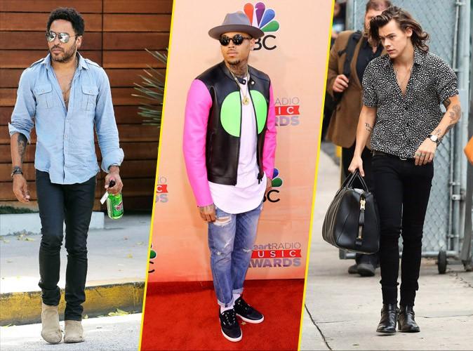 En direct de Fashionland : Lenny Kravitz, Chris Brown et Harry Styles
