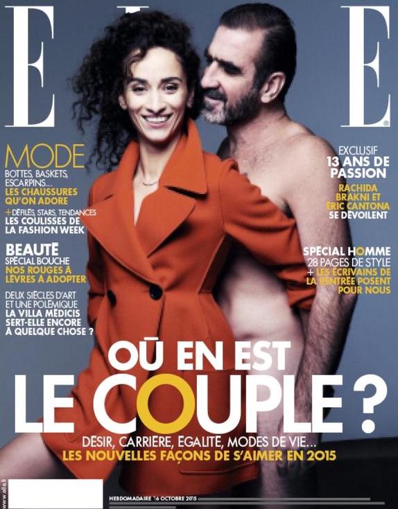 Photos : Eric Cantona pose nu avec sa femme en une de ELLE !